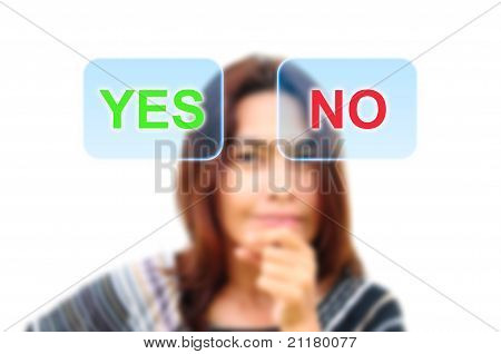 women are deciding yes or no
