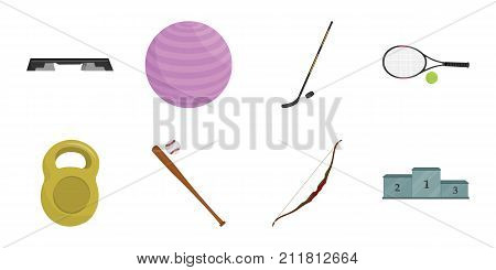 Different kinds of sports icons in set collection for design. Sport equipment vector symbol stock  illustration.