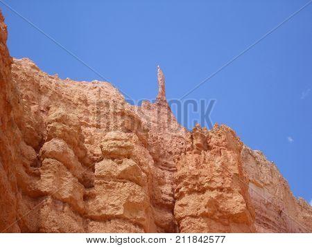 A crag in Bryce Canyon National Park USA