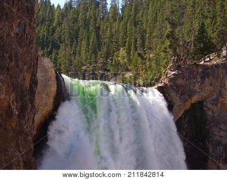 Lower Yellowstone Falls one of most beautiful waterfalls of North America