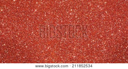 Red  Shiny Glitter Background With Glare Of Lights