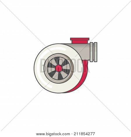 Car turbo flat vector icon for web