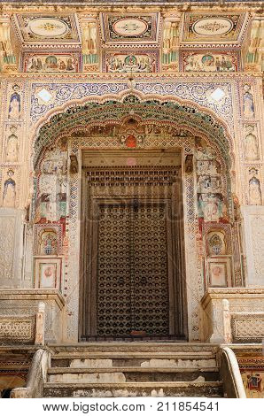 Typical example of Indian architecture in the state Rajasthan