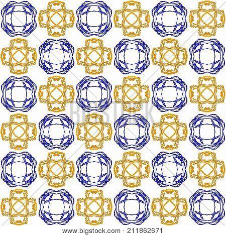 Seamless Abstract Blue Orange Texture Fractal Patterns