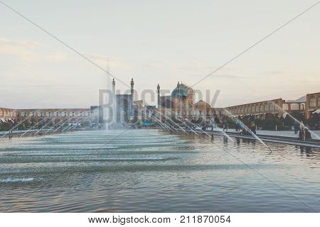 Isfahan, Iran - October 06, 2016: Sheikh Lotfollah Mosque At Naqhsh-e Jahan Square In Isfahan, Iran