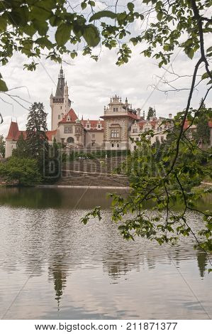 It is image of interesting place Pruhonice castle.
