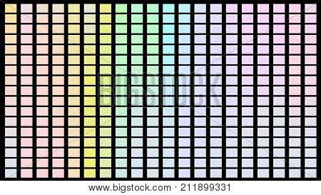Color Palette. Palette Of Colors. Black Background Color Shade Chart.