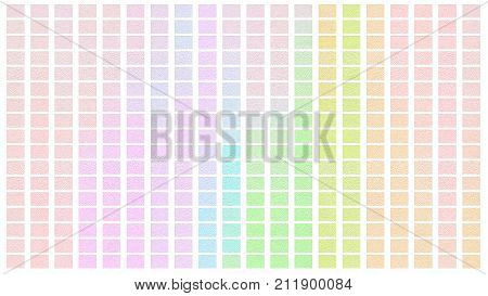 Color Palette. Palette Of Colors. White Background Color Shade Chart.