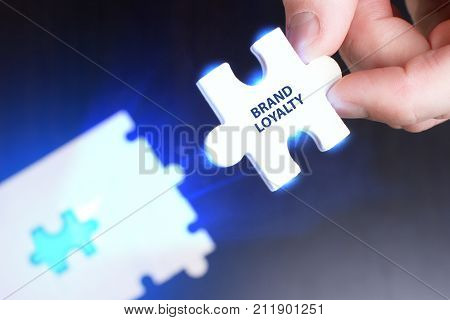 The Concept Of Business, Technology, The Internet And The Network. A Young Businessman Collects A Pu