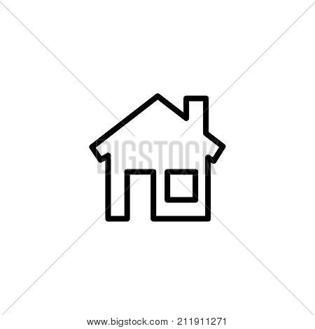 Modern home line icon. Premium pictogram isolated on a white background. Vector illustration. Stroke high quality symbol. House icon in modern line style.