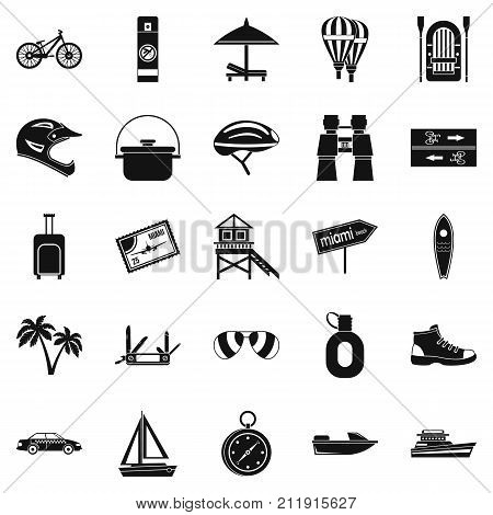 Holiday abroad icons set. Simple set of 25 holiday abroad vector icons for web isolated on white background