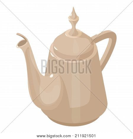Kettle vintage icon. Isometric illustration of kettle vintage vector icon for web