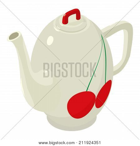 Kettle modern icon. Isometric illustration of kettle modern vector icon for web