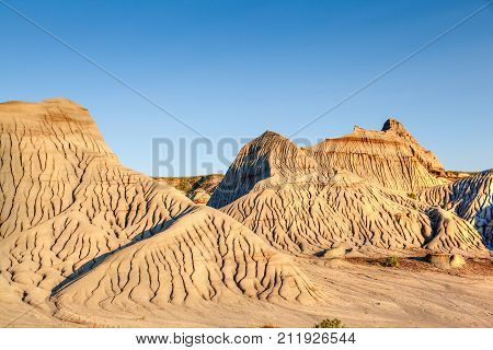 Badlands Of Dinosaur Provincial Park In Alberta, Canada