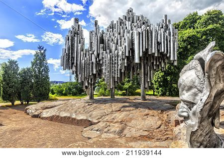Monument For Sibelius In Helsinki.