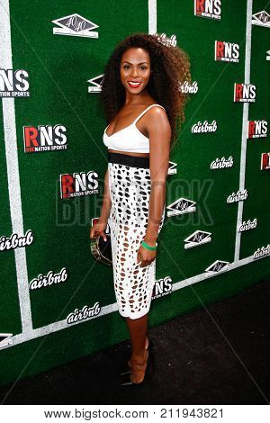 NEW YORK-FEB 1: Actress Tika Sumpter attends the Roc Nation Sports Celebration at the 40/40 Club on February 1, 2014 in New York City.
