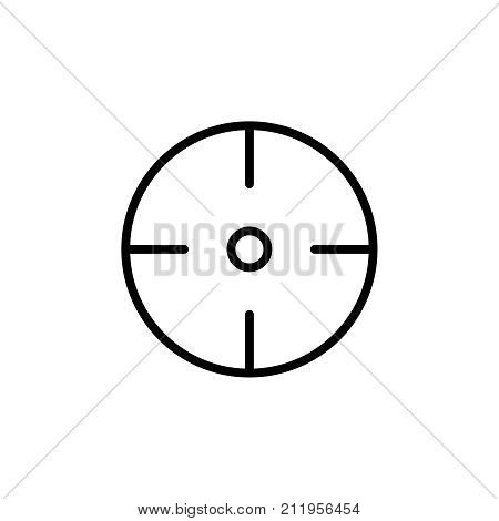 Premium crosshair icon or logo in line style. High quality sign and symbol on a white background. Vector outline pictogram for infographic, web design and app development.