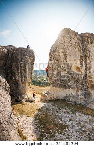 Photographer Shoots Climbers.