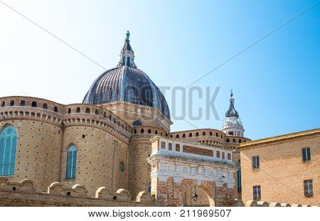 Italy Loreto Sanctuary of the Santa Casa the apse of the Basilica