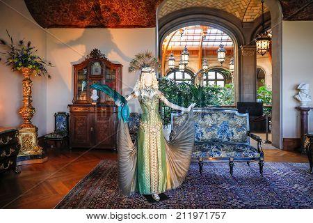Asheville, North Carolina - March 4, 2017:  Biltmore's Costume Exhibition.