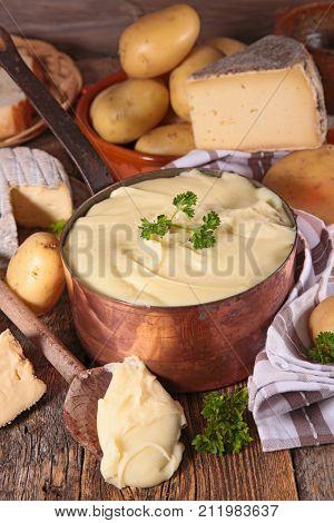 aligot, potato and cheese,french dish