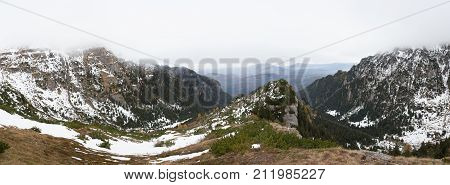 Beautiful Panoramic Of Moutains
