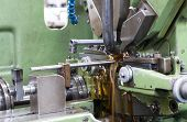 Automatic lathe machine control by camshaft for Industria. poster