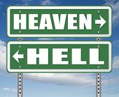 heaven or hell devils and angels salvation from evil save your soul and spirit search and find Jesus and God 3D, illustration poster