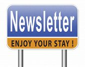 newsletter latest news bulletin hot breaking and latest news icon 3D, illustration poster