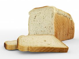 Bread Sliced - Toast - Arrangement Isolated On White