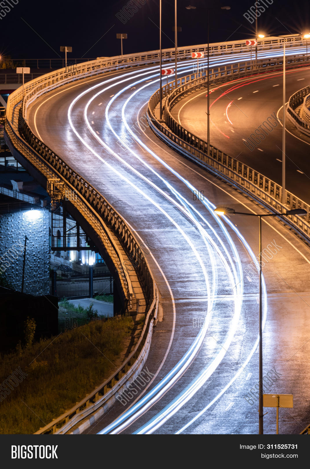 Interchange Bridge Image Photo Free Trial Bigstock