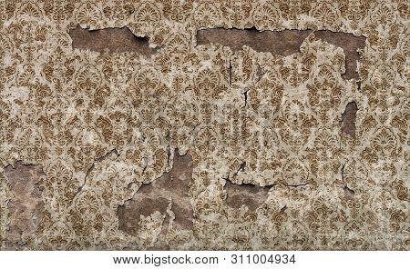 Old Rough Damaged Vintage Wall Background Pattern