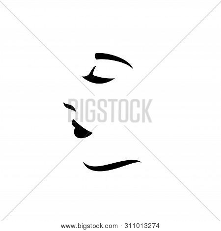 Woman Face Logo Vector Photo Free Trial Bigstock