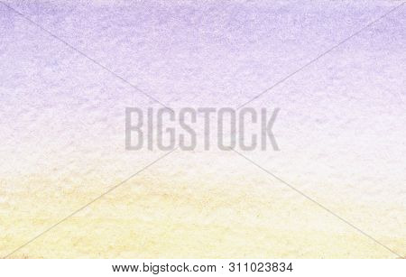 Serene Watercolor Abstract Background Of Pastel Shades. Delicate Gradient From Gently Blue To Warm A