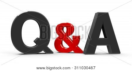Gray Q&a - Questions And Answers - Symbol Or Icons Isolated On White Background, Three-dimensional R