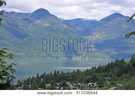 Howe Sound In British Columbia In Summer