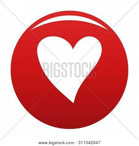 Cruel Heart Icon. Simple Illustration Of Cruel Heart Icon For Any Design Red