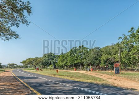 Barberton, South Africa - May 2, 2019: A Road Landscape On Road R38 Near Barberton In The Mpumalanga