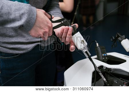 3d Medical Equipment. Training Equipment For Operations. A Person Is Trained To Do Medical Operation