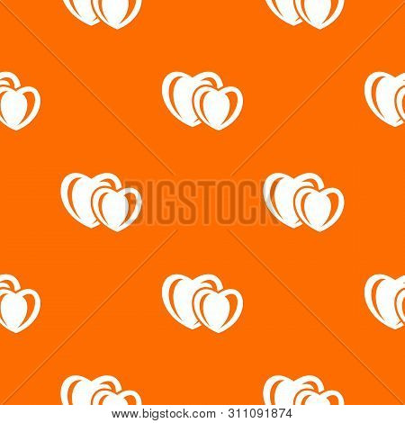 Heart Love Pattern Orange For Any Web Design Best