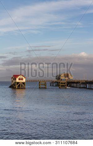 Mumbles Lifeboat Station Near Swansea Wales, Portrait