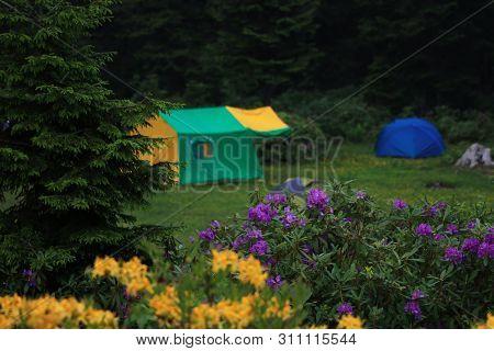 Camping At Trabzon In Blacksea Region Of Turkey.