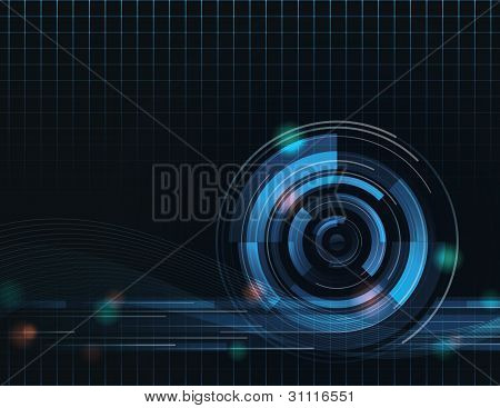 Vector Tech Abstract Background Eight