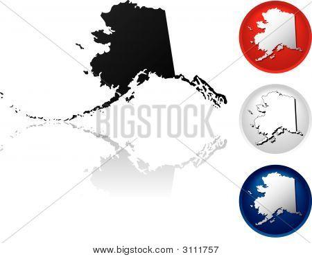 Bundesstaat Alaska Icons