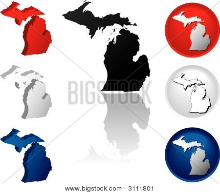 State Of Michigan Icons
