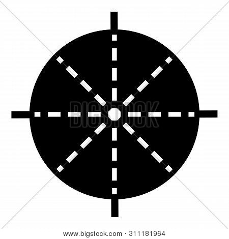 Periscope Aim Icon. Simple Illustration Of Periscope Aim Icon For Web Design Isolated On White Backg