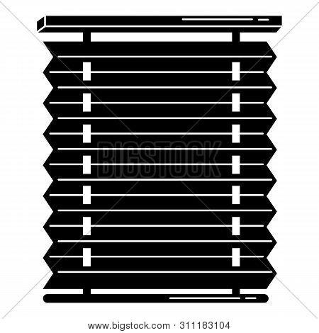 Plastic Jalousie Icon. Simple Illustration Of Plastic Jalousie Icon For Web Design Isolated On White