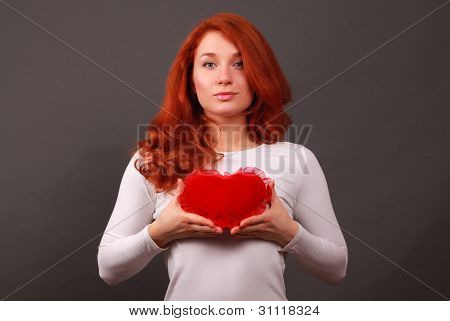 girl with symbol of heart