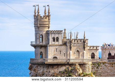 Castle Of Swallow's Nest At The Black Sea Coast, Crimea, Russia