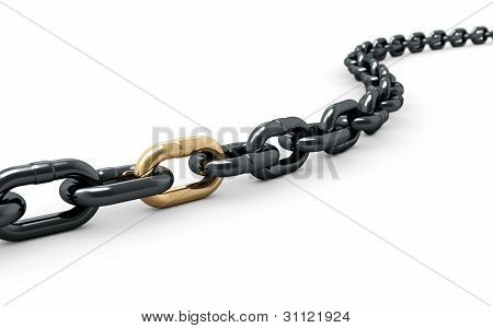 Chain With One Shiny Golden Link